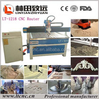 Factory price cnc router 120*180*20cm wood cutting drilling milling LT-1218 for making wood chair and cabinet