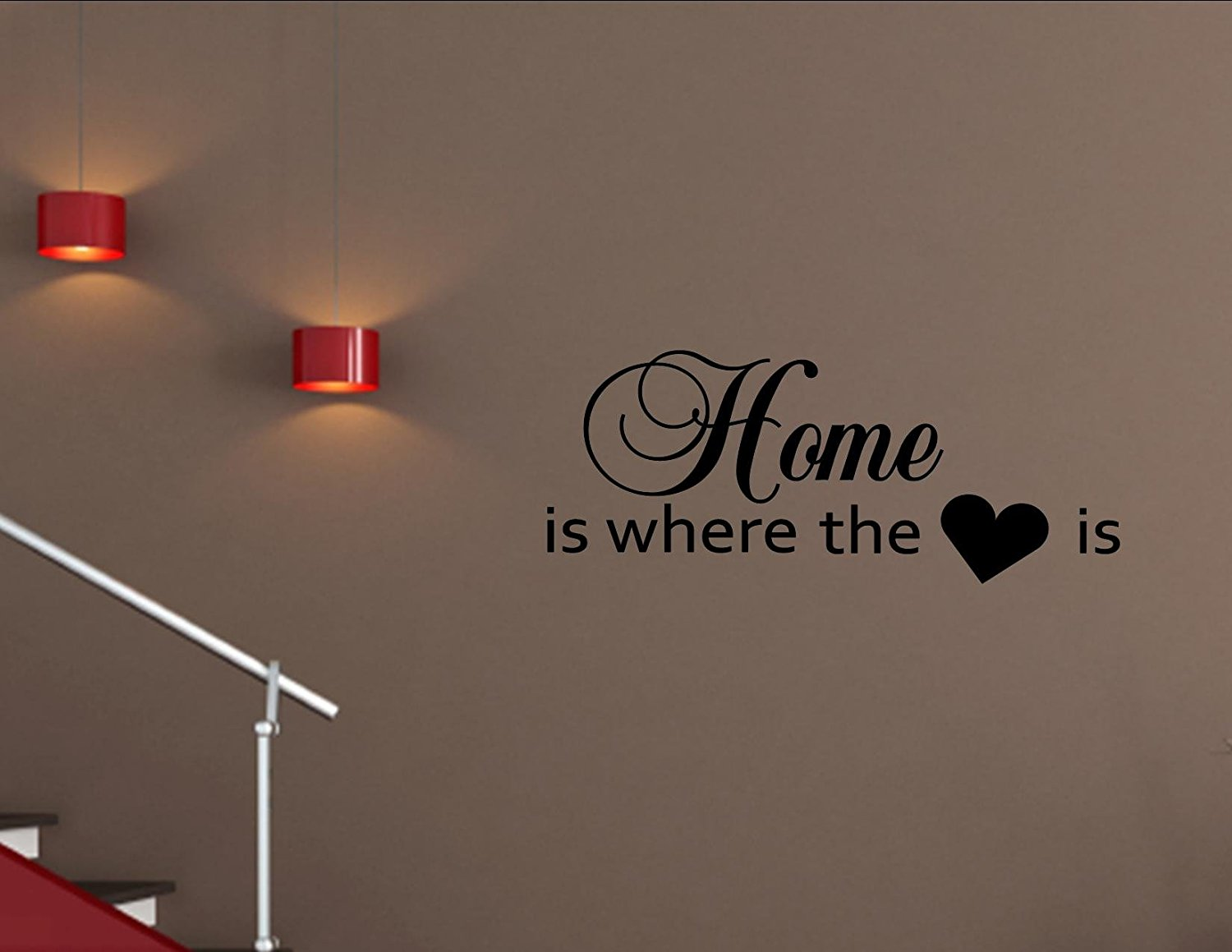 Buy Home Is Where The Heart Is 01 Vinyl Wall Decals Quotes