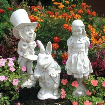 Fairy Tale Stone Garden Statues With Rabbit For Sale