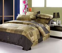 brown color bedding set comforter queen bed complete bed in a bag set