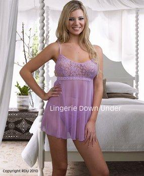 43022faed1d Soft Sheer Purple Babydoll. - Buy Ldu-1-0058