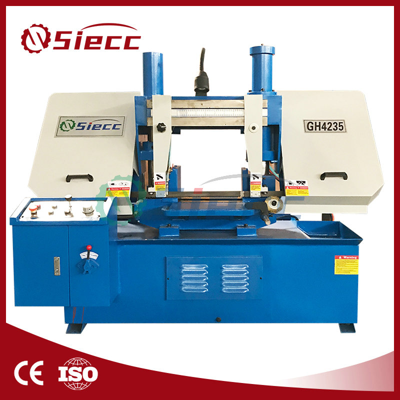 (GB-4240) Semi CNC Double Column Horizontal Band Saw, Metal Cutting Band Saw