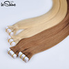 Remy Wholesale Hair 5A Grade Blonde Color #613 100% Virgin Human Tape Hair Extension Indian Hair