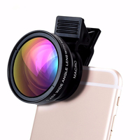 Behenda 2019 universal clip on cell phone camera lenses 0.45x super wide angle macro lens for iPhone & Android lens kit