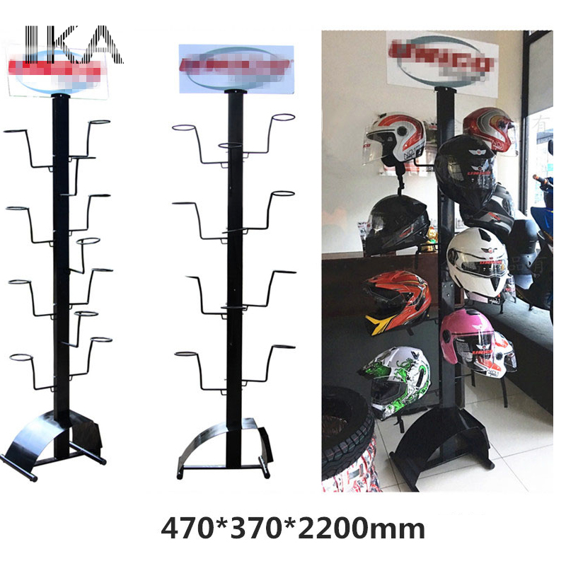 Retail prijs 7 Tier 35 Hoed Cap Display Retail Hoed Rack Roterende Verstelbare Metalen Floor Stand Black