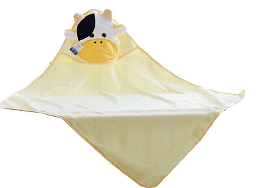 Blancho Bedding Baby Soft Cotton Breathable Bath Towel Kids Bathcloth Cloak Bathrobe 0-3 Years(Yellow-1)