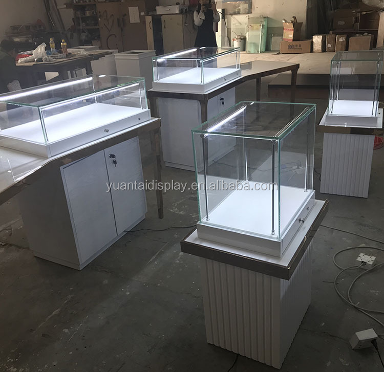 2018 hot sale display cabinet showcase for jewelry shop/ jewelry kiosk with led lights