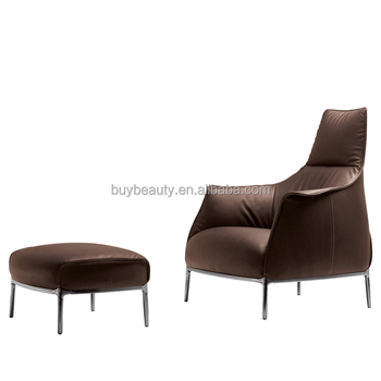 Furniture Living Room Leather Sofa With Footrest