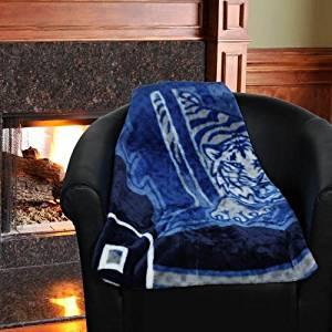 MLB Detroit Tigers 50'' x 60'' Navy Blue Retro Royal Plush Blanket Throw