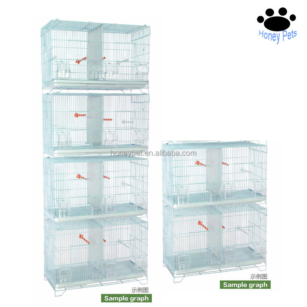 HP-BC09 4 layers canary breeding bird cages with dividers for sale