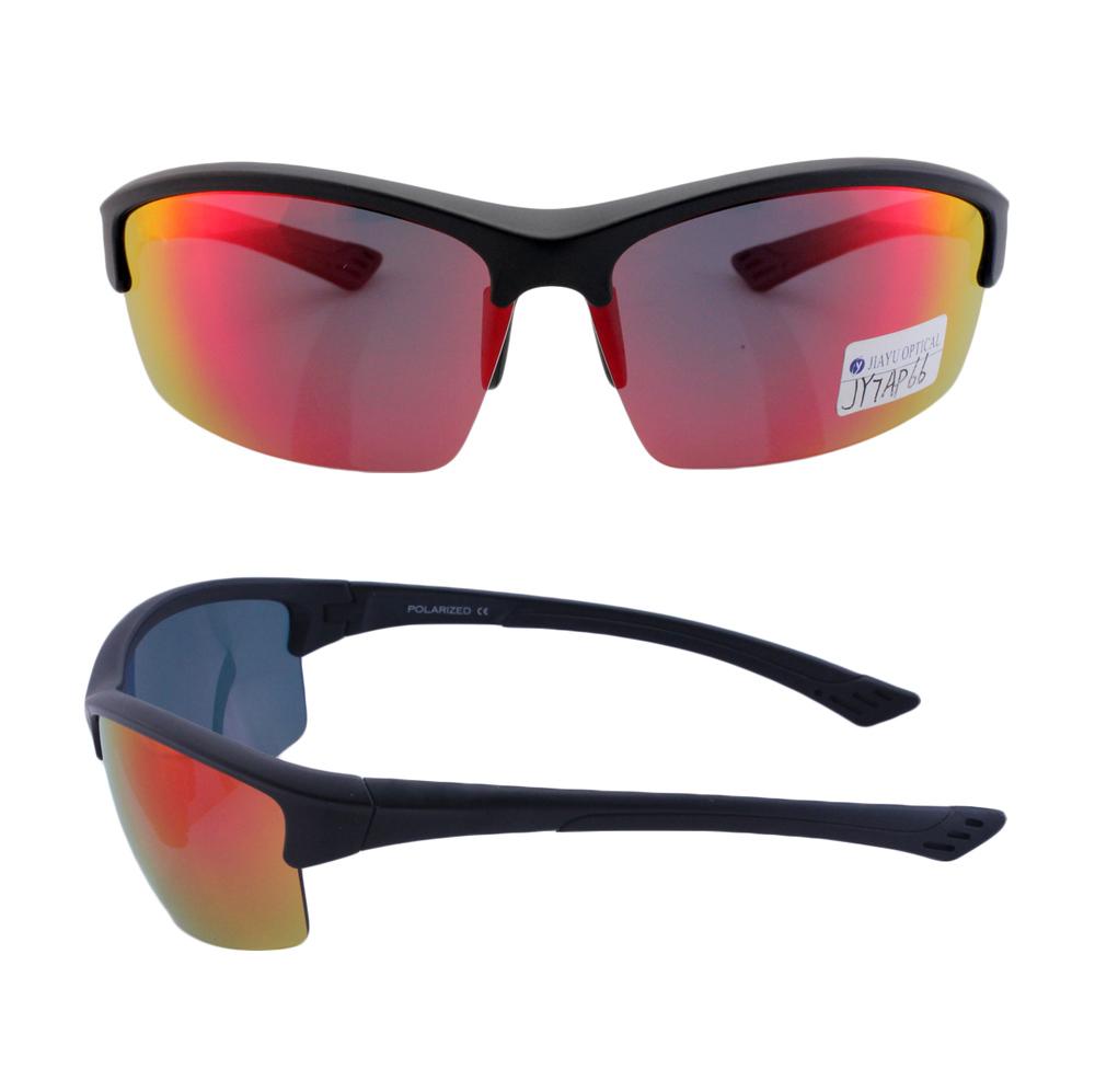 ขายส่งครึ่งกรอบที่กำหนดเองขี่จักรยานสีแดงกระจกเลนส์ tr90 พลาสติก oem แว่นตากันแดดกีฬา