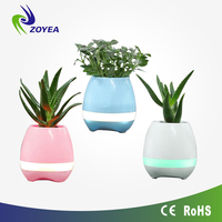 15 Piano songs flower pot sensor Christmas gifts smart speaker Green plant pots touchable Smart flower pot music speaker