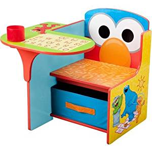 Color, Play or Study Sesame Street Desk & Chair with Storage Bin