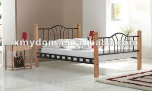 durable cheap young people furniture king iron beds cast iron bed