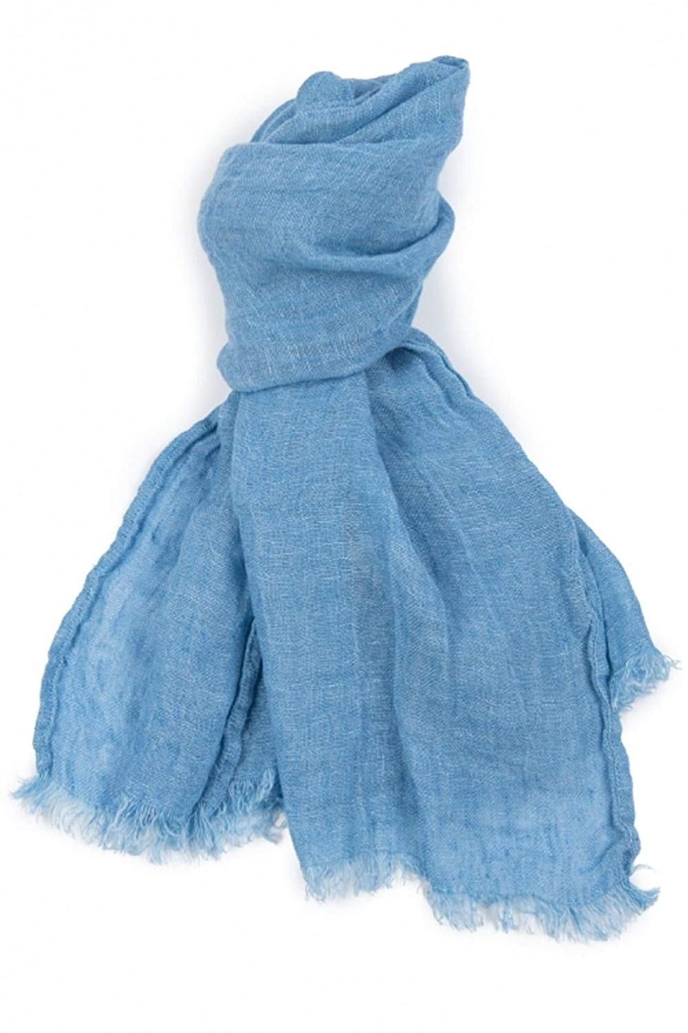 1374d978d Get Quotations · Light Blue Scarf | 100% Linen Scarf | Scarves For Women |  Mens Scarf