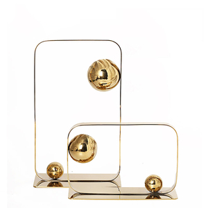 Model room stainless steel flower living room desktop cabinet decoration cabinet soft metal ball home accessories ornaments