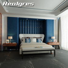 Hots sale fashion porcelain panels tile wall and floor decoration 1800x900mm rustic glazed thin ceramic black marble tiles