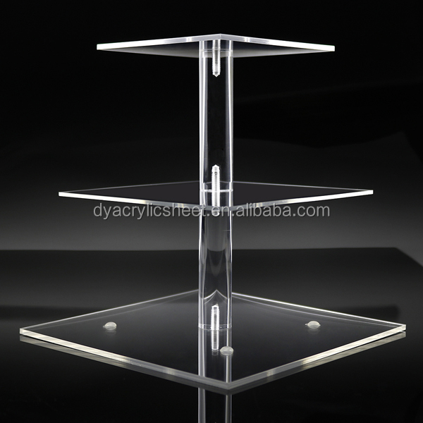 Acrylic Cake Holder,Acrylic Cake Stand,3 Tier Cupcake Stand  (2)