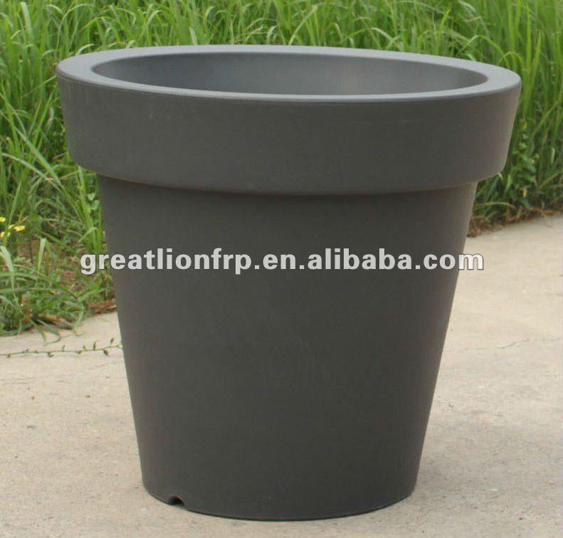 gr02116 xxl formaat 1m outdoor kunststof bloempot groothandel patio pot grijs bloempotten en. Black Bedroom Furniture Sets. Home Design Ideas