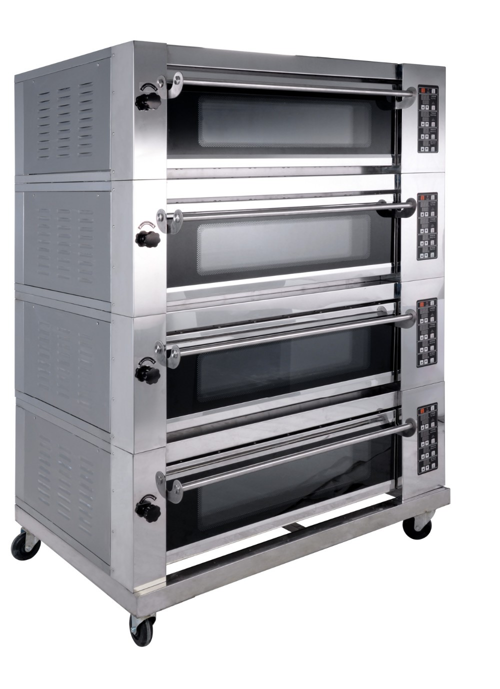 Commercial Electric Pizza Oven ~ Layer trays commercial electric gas pizza deck oven