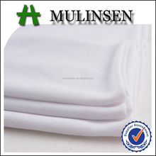 Mulinsen Textile 100% Polyester 75D FDY Soft Jersey Cheap White Fabric Roll