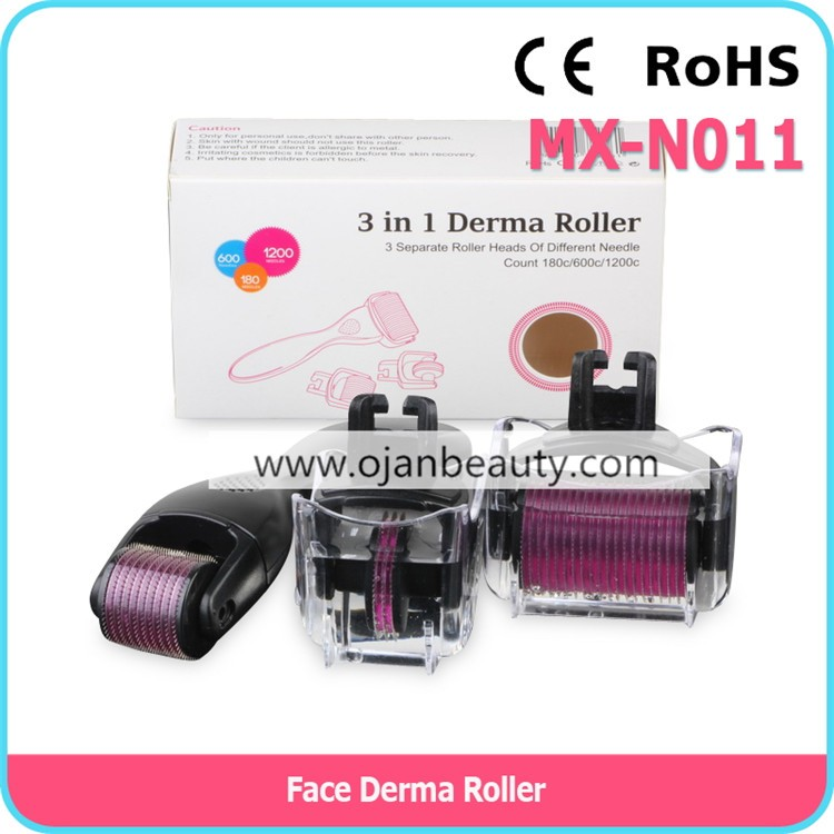 New products on market micro needle derma roller 3 in 1 kits