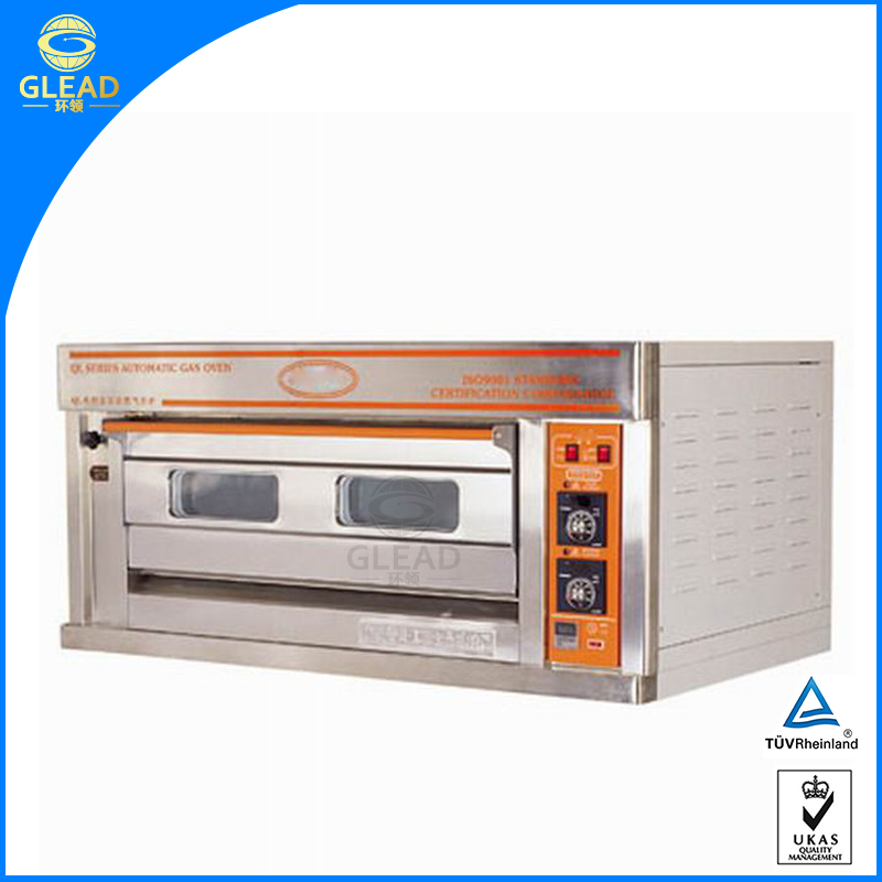 High capacity gas deck oven gas combi oven