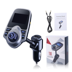 FM Transmitter, Wireless In-Car FM Transmitter Radio Adapter Car Kit With USB Car Charger AUX Input 1.44 Inch Display