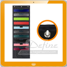 Storage Pocket Chart Wall Hanging File Organizer with 10 Large Pockets