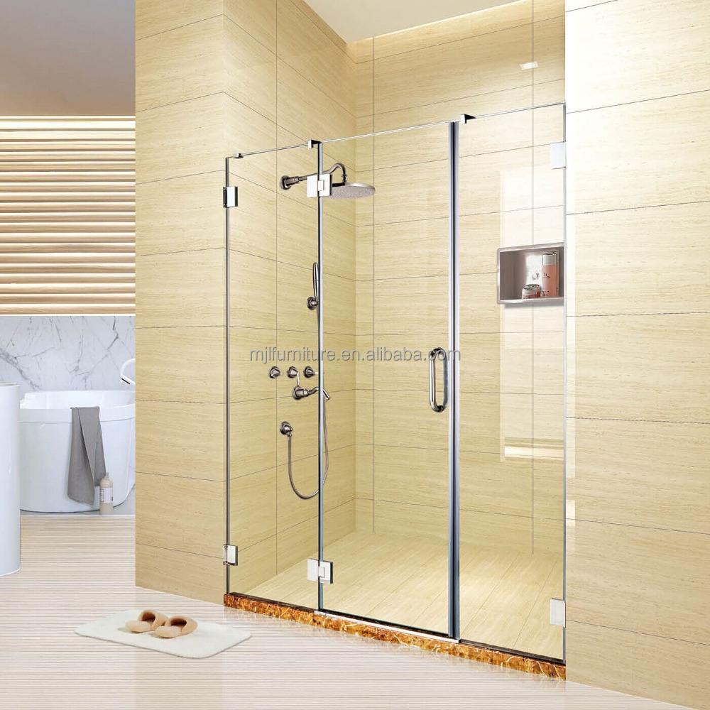 luxe douche cabine delen met schuifdeur gehard glas douche. Black Bedroom Furniture Sets. Home Design Ideas