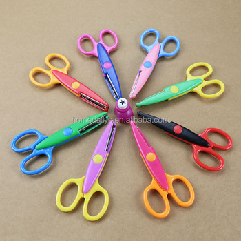 8 Colorful Decorative Paper Edge Scissor Set With Puncer Great For
