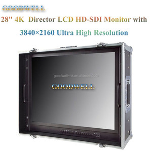 "28"" 3840x2160 4K Quad Slip Display UHD Monitor with SDI HDMI 2.0 inputs,Peaking Focus ,Check Field Camera Mode"