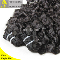 100% pure malaysian peruvian human hair 8A Italian Curl Hair Weave Tangle free wholesale south american