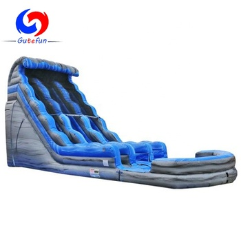 big outdoor playground double lane adult size inflatable water slide for sale