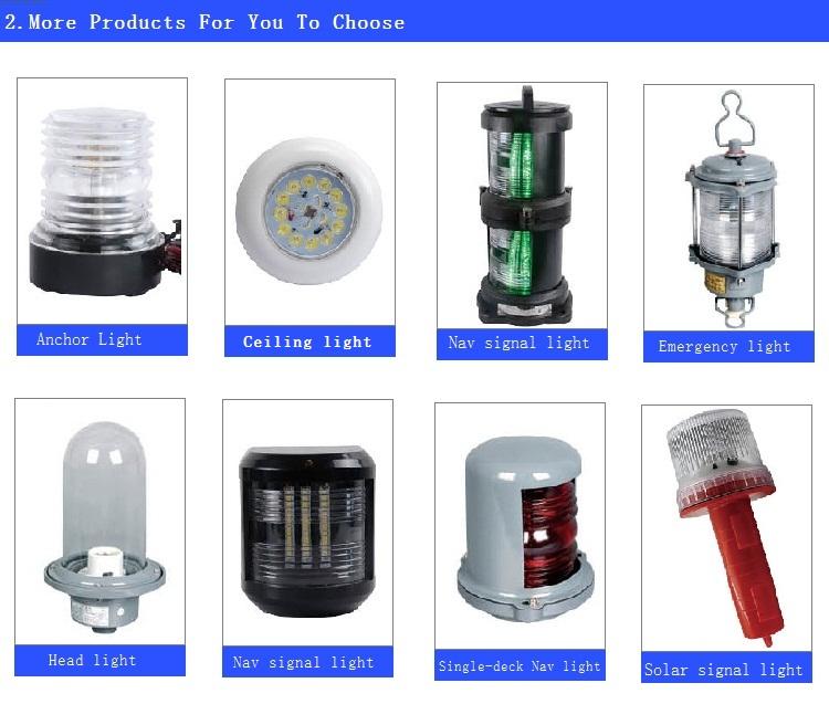 4nm visibility LED Solar Marine Navigation Light JV305