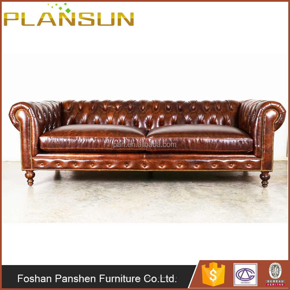 Traditional Classic Vintage Style Club Chesterfield Leather Sofa - Buy  Chesterfield Leather Sofa,Traditional Chesterfield Leather Sofa,Club  Leather ...