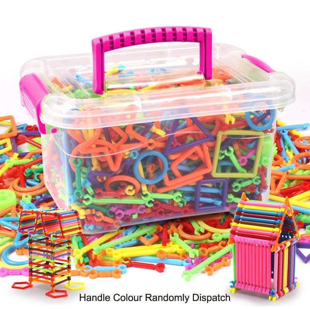 7abbd6cb436e Get Quotations · Holiberty Kids 300pcs Construction Building Blocks Set  Learning STEM Toy Children DIY Interlocking Magic Sticks 3D