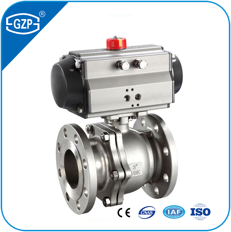 Offering Class 150Lb Pressure PTFE seat Pneumatic double acting Full Bore DN200 Floating Ball Valves with ASCO positioner