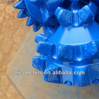 API Petroleum Drill Equipment, IADC217 Steel Tooth Tricone Bits, Oil Water Well Drill Equipment