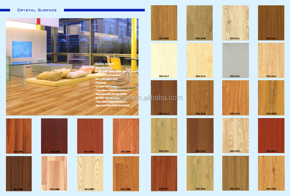 Multi colours swiftlock handscraped hickory laminate for Laminate floor colors choose