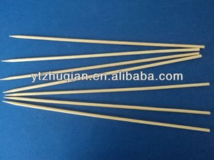 Natural round bamboo art stick for food use wholesale