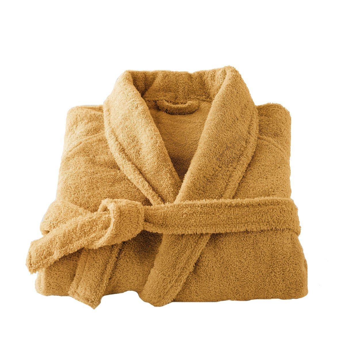 Get Quotations · La Redoute Interieurs Cotton Shawl Collar Towelling  Bathrobe Orange Size US 16 18 - Fr b57763e3a