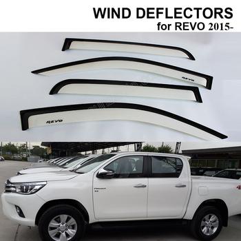 WHITE U0026 BLACK DOOR VISOR RAIN SUN GUARD WIND DEFLECTORS WINDOW VISOR VENT  FOR HILUX REVO