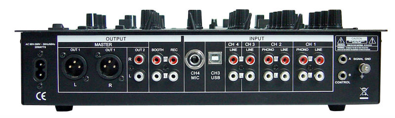 MIX-4DUSB 2015 New Design Professional 4 channels Digital Audio laptop dj mixer with DSP effect