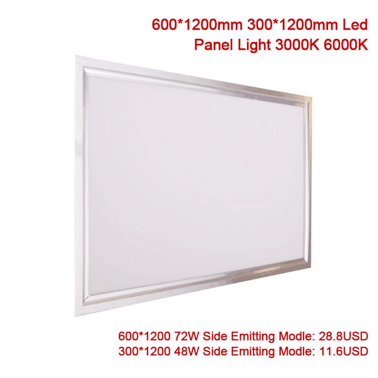 72w panneau led lumière suspendue plafond encastré shop éclairage de bureau 1200 x 600