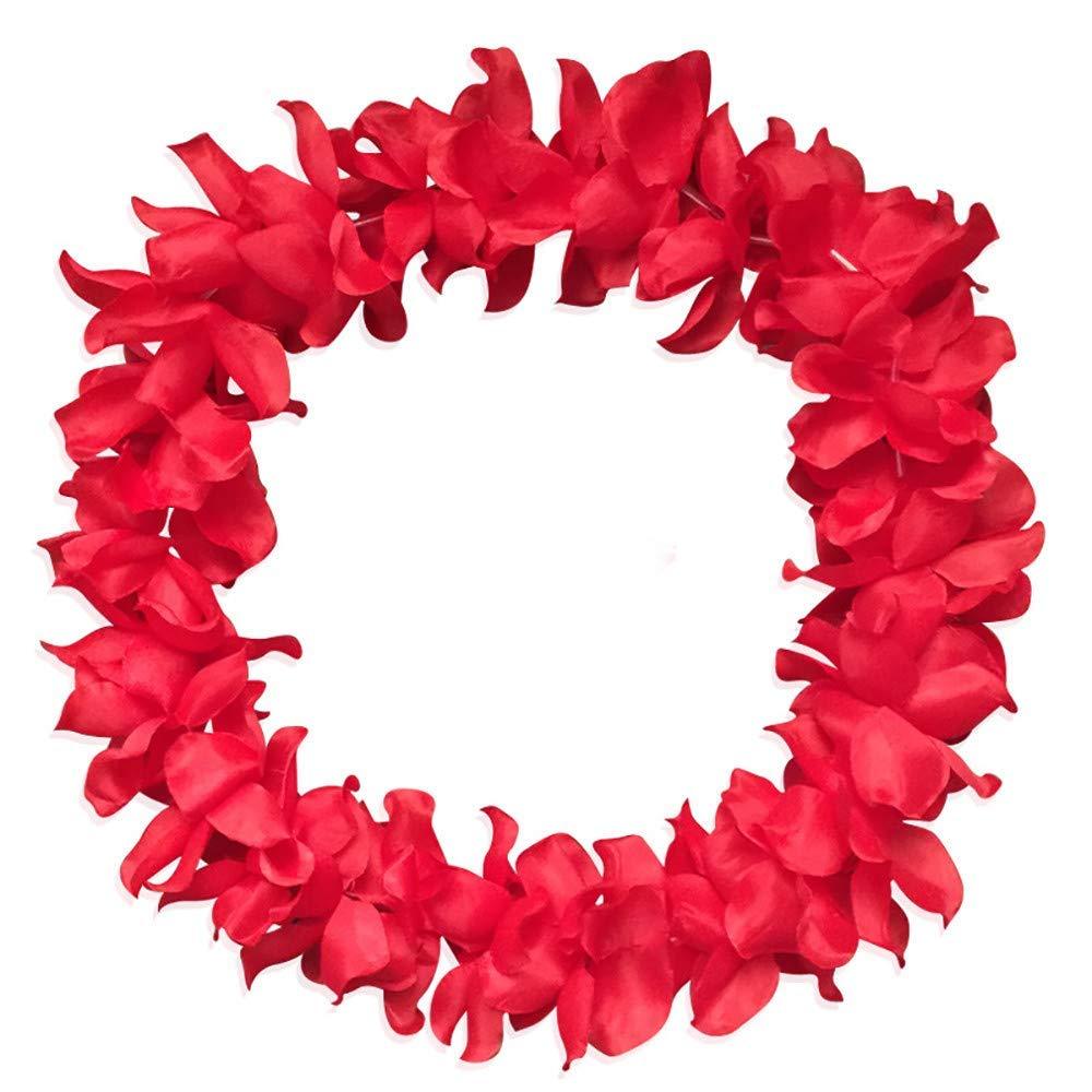 DICPOLIA Home Accessories Counts Tropical Luau Flower Lei Theme Party Favors Hawaiian Leis Necklace Hawaii Silk Wreaths Holiday Wedding Beach Birthday Decorations Assortment
