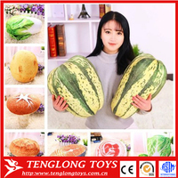 Wholesale promotional 3D printed stuffed plush vegetables toys