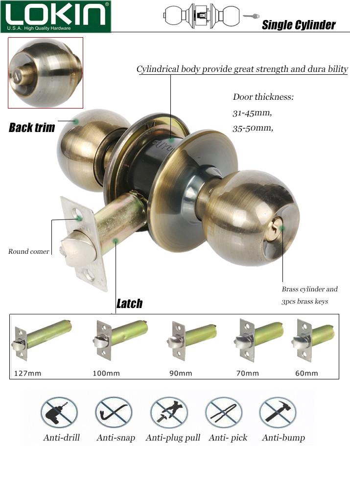 Door Knob Lock Components - Buy Door Knob Lock Components,Knob Lock ...