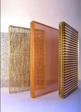 Impact Resistance and Fireproof Laminated Glass Metal Wire Mesh in stock