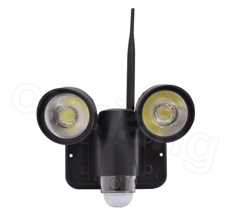 Indoor Outdoor Mini Wifi Wireless 720p P2p Pir Floodlight Camera With Motion Sensor
